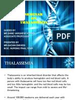 Thalassemia Final Seminar By Sachin dwivedi