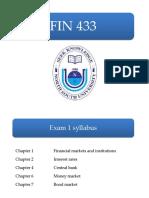 FIN 433 - Exam 1 Slides