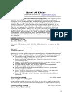 Basel AlKhder CV