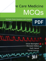 Intensive Care Medicine MCQs Multiple Choice Questions With Explanatory Answers