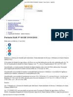 Portaria SAR Nº 60 de 10-10-2016 - Estadual - Santa Catarina - LegisWeb