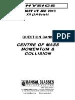 Centre of Mass Momentum & Collision_QB_AN-Batch_Eng_WA