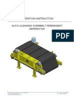 Auto-cleaning Overbelt Permanent Seperator