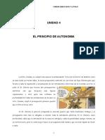 Unidad 4 El Principio de Autonomia