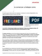 Plataformas Comenzar Trabajar Freelance