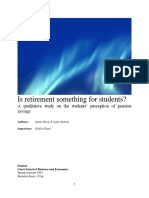 Retirement for Students (Management Project)