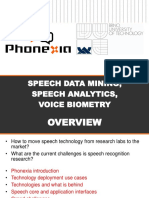 Speech Technologies for Data Mining Voice Analytics and Voice Biometry Slides