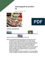 Infiintarea Unui Magazin de Produse Traditionale