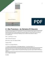 Salvatore Di Giacomo - A San Francisco