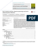 Fats in Poultry Nutrition Digestive Physiology and Factors