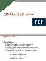 Unidad 2 Sintaxis en Java