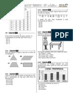 1ª P.D - 2012 - (Mat. 3º Ano - Mat)