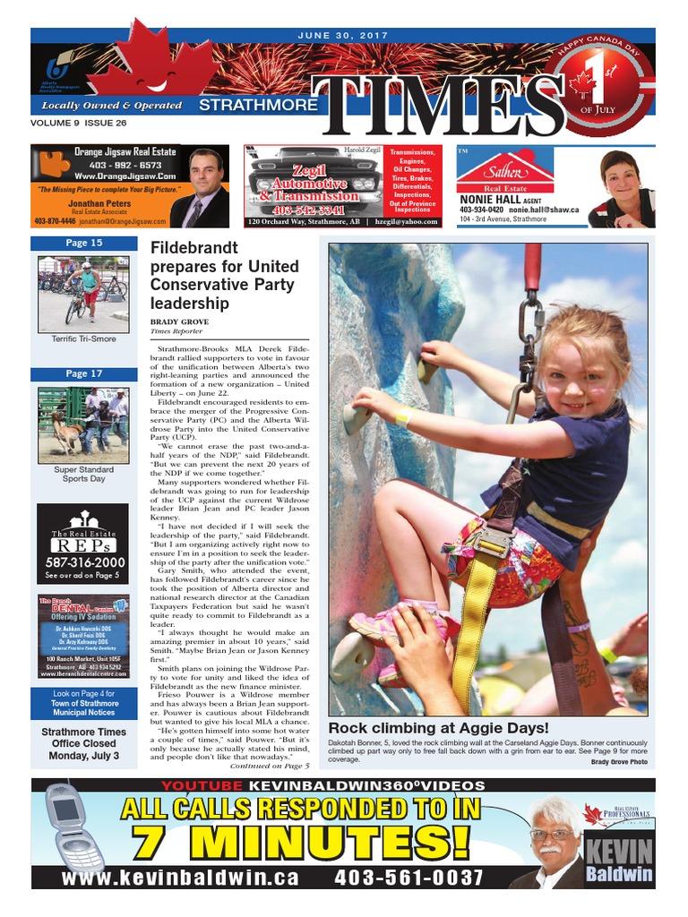 June 30, 2017 Strathmore Times | Politics