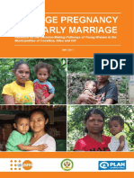 Teenage Pregnancy and Early Marriage - 2017 Research by Dr Deb Cummins and Mira Fonseca