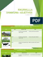 RIKURIKLLLA  SHIMIKUNA- ADJETIVOS