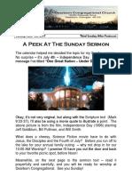 Pastor Bill Kren's Newsletter - July 2, 2017