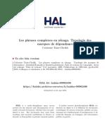 Les Phrases Complexes en Zénaga Typologie Des Marques de Dépendance