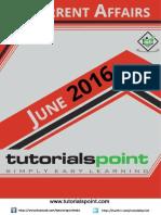 Current Affairs June 2016 PDF Version
