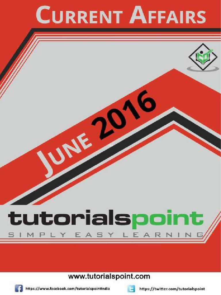 Current Affairs June 2016 PDF Version | Business