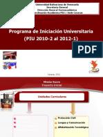 Piu Consejo Universitario 2012 Proyectar