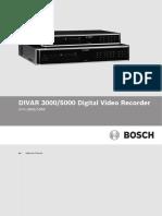 DIVAR 3000_5000 Operator Manual