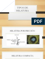Tipos de Hilatura Hilos III Expo
