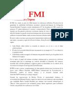 FMI Y el Banco Mundial