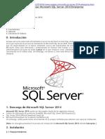 Instlar SQL Server 2014 Enterprise Español-españa