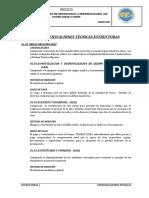 2.1.- Especificaciones Tecnicas - Estructuras