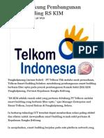 Telkom Dukung Pembangunan Smart Building RS KIM - ANTARA News Bangka Belitung - ANTARA News Bangka Belitung - Berita Terkini Bangka Belitung