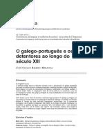 MIRANDA (2012) Galego-português e Seus Detentores s. XIII