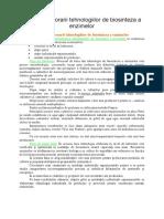 Etapele Elaborarii Tehnologiilor de Biosinteza a Enzimelor