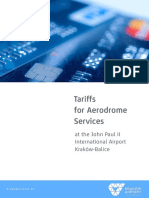 Tariffs for Aerodrome Services at KRK_1 NOV 2016
