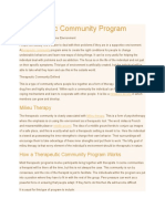 Therapeutic Community Program _ Research