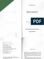 Foucault, Michel - Qué es un autor