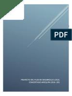 Proyecto Del Plan de Desarrollo Local