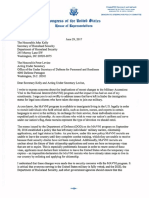 Letter to Secretary Kelly and Acting Under Secretary Levine on MAVNI Program