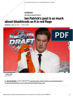 Flyers Pick Nolan Patrick's Past is as Much About Bluebloods as It is Red Flags