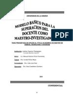 Modelo Basico Para La Superacion Del Docente