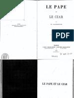 """""""le Pape et le Tsar"""", par  Pierre Sébastien Laurentie"""