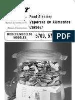 Manual vaporera de alimentos Oster
