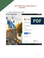 Pasos Para Ingresar Al OneDrive Para Estudiantes Desde Una Computadora