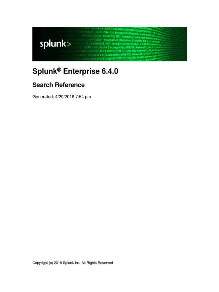 Splunk 6 4 0 SearchReference | Parameter (Computer