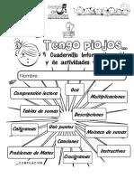 """CUADERNO DE ACTIVIDADES """"TENGO PIOJOS"""""""