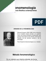 Fenomenología y Método