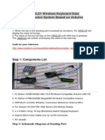 NRF24L01 Wireless Keyboard Data Transmission System Based on Arduino