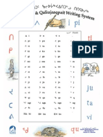 Syllabary & Short History of Inuktitut Writing System Poster