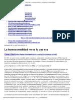 César Vidal - La Homosexualidad No Es Lo Que Era - Libertad Digital