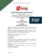 Ley 1340 Codigo Tributario Derogado 28-05-92
