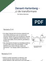 _2016_Notatia Denavit-Hartenberg - Matrici de Transformare_curs2-Add-V1
